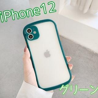 大人気★ ケース バンパースマホケース iPhone12 グリーン(iPhoneケース)