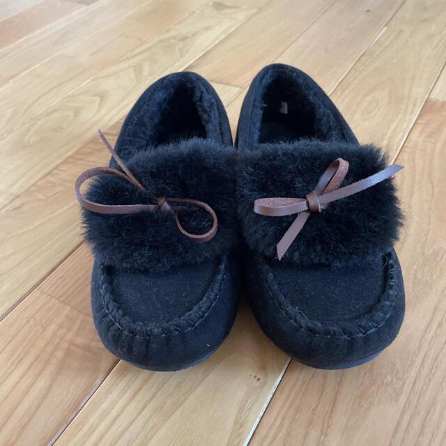 GU(ジーユー)のGU モカシン 可愛いファースリッポン20センチ キッズ/ベビー/マタニティのキッズ靴/シューズ(15cm~)(スリッポン)の商品写真