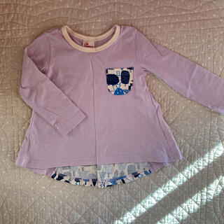 切り替え長袖 トップス ロンT 95(Tシャツ/カットソー)