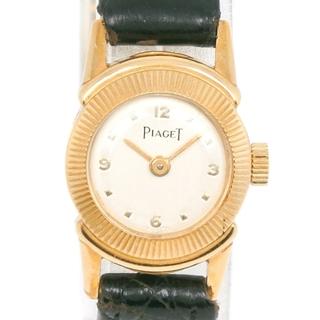 ピアジェ(PIAGET)のピアジェ      K18イエローゴールド レザー      手巻(腕時計)