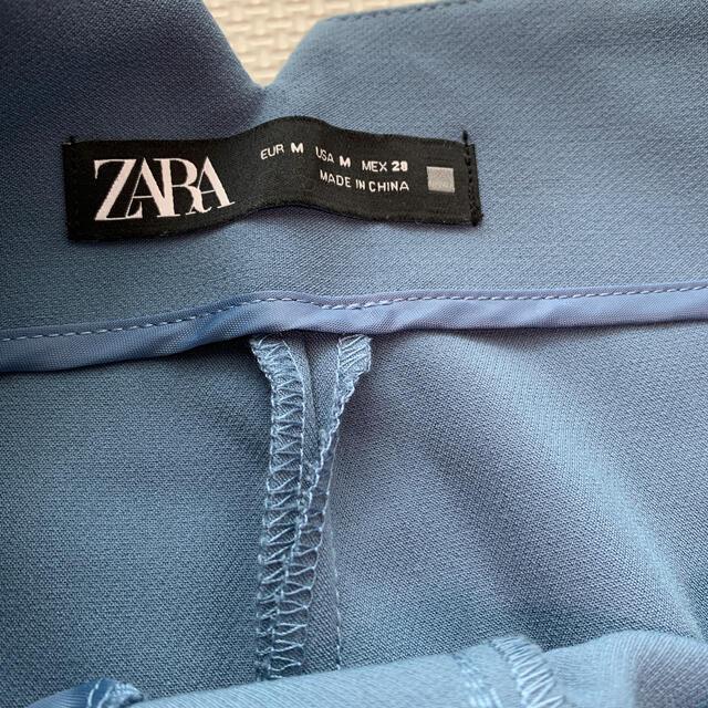ZARA(ザラ)のZARA ハイウエストパンツ パウダーブルー レディースのパンツ(カジュアルパンツ)の商品写真