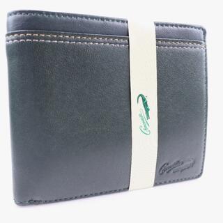 クロコダイル(Crocodile)のクロコダイル      羊革    緑    メンズ  二つ折り財(折り財布)