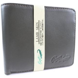 クロコダイル(Crocodile)のクロコダイル      ラムスキン    緑    メンズ  二つ(折り財布)