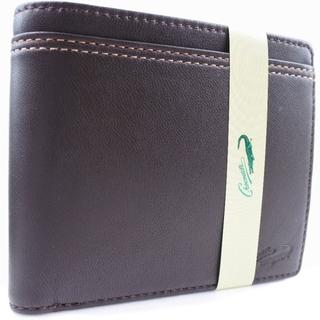 クロコダイル(Crocodile)のクロコダイル      羊革    茶色    メンズ  二つ折り(折り財布)