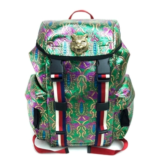 Gucci - 新品同様 グッチ 466467 ブロケード 刺繍 リュックサック バックパック