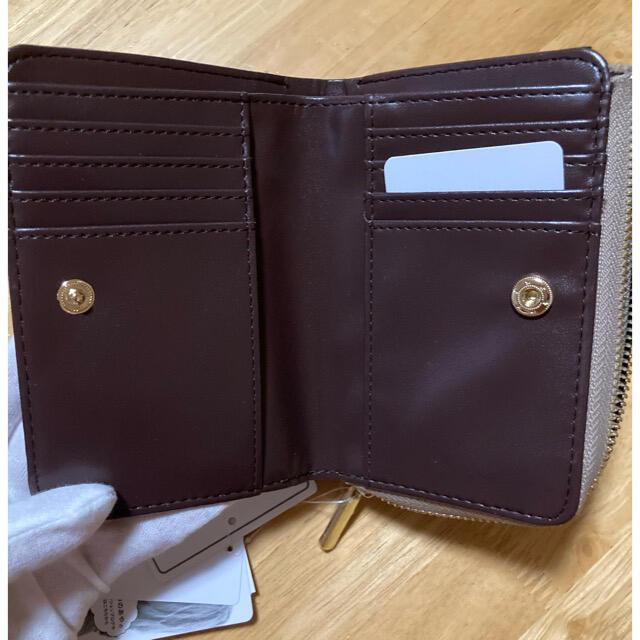 しまむら(シマムラ)のしまむら プチプラのあや 折りたたみ財布 クロコ ベージュ 新品未使用 レディースのファッション小物(財布)の商品写真