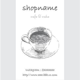 100枚 ショップカード 名刺 アクセサリー台紙やメッセージカードにも(カード/レター/ラッピング)