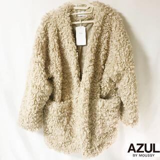 アズールバイマウジー(AZUL by moussy)の【MOUSSY】くるくるラムウール コート タグ付き未使用(毛皮/ファーコート)
