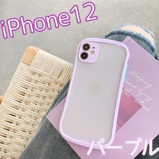 大人気★ ケース バンパースマホケース iPhone12 パープル(iPhoneケース)