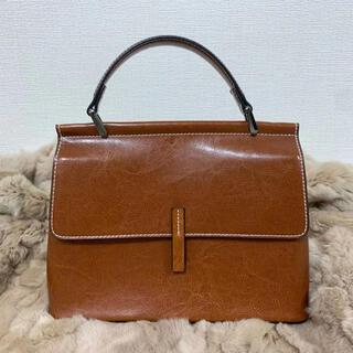 新品 トートバッグ ハンドバック ショルダー バック 鞄 カバン 茶色 ブラウン(トートバッグ)