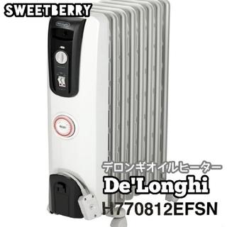 デロンギ(DeLonghi)のDeLonghi デロンギオイルヒーター H770812EFSN  説明書あり(オイルヒーター)