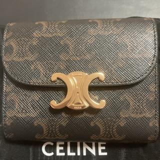 celine - セリーヌトリオンフ三つ折り財布