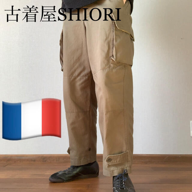 COMOLI(コモリ)のフランス軍 M-47 カーゴパンツ 後期型 HBT ヘリンボーンツイル 復刻 メンズのパンツ(ワークパンツ/カーゴパンツ)の商品写真