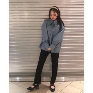 レイビームス(Ray BEAMS)のghospell レザージャケット レザーシャツ ブルー sister jane(ライダースジャケット)