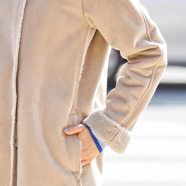 しまむら(シマムラ)の【新品タグ付き】フジコウ エコムートンコート レディースのジャケット/アウター(ムートンコート)の商品写真