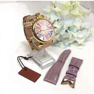 ガガミラノ(GaGa MILANO)の美品☆ ガガミラノ マヌアーレスリム 5081.1 替ベルト付!(腕時計(アナログ))