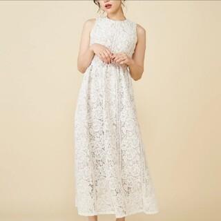 ROYAL PARTY - バッククロスレースドレス ホワイト