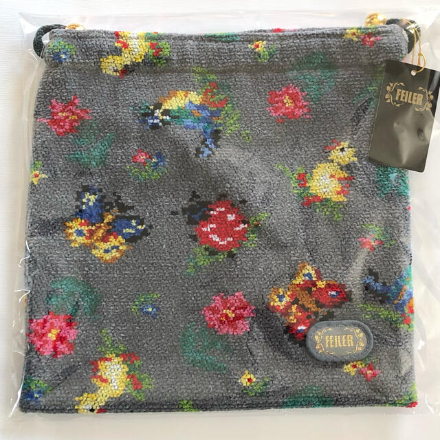 FEILER(フェイラー)のFEILER 巾着 小 ♩ハイジ グレー♩ レディースのファッション小物(ポーチ)の商品写真
