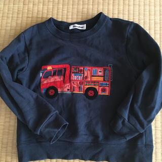 familiar - ファミリア トレーナートップス 消防車ファミリア チェック110男の子