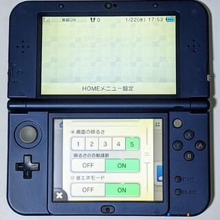 任天堂 - Nintendo 3DS NEW ニンテンドー 本体 LL メタリックブルー