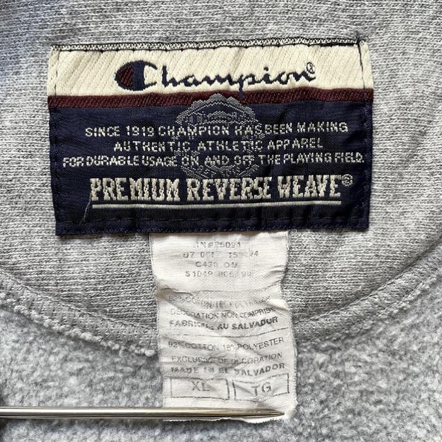 Champion(チャンピオン)の古着 チャンピオン スウェット リバースウィーブ 刺繍ロゴ XL メンズのトップス(スウェット)の商品写真