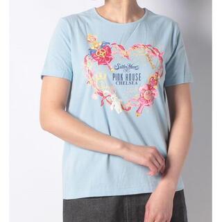 PINK HOUSE - ピンクハウス セーラームーン コラボ メイクアップリボンプリントTシャツ 青