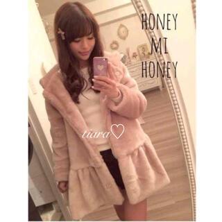 Honey mi Honey - 新品タグ付き♡フェイクファーコート