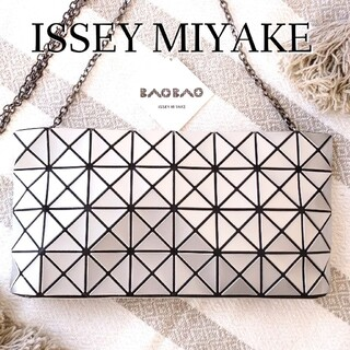 ISSEY MIYAKE - 美品】イッセイミヤケ BAOBAO ショルダーバッグ チェーン シルバー