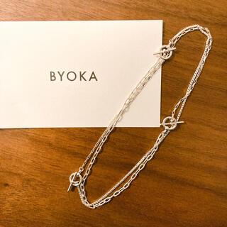 byoka 新品 TRIPLE CHAIN NECKLACE サイズS