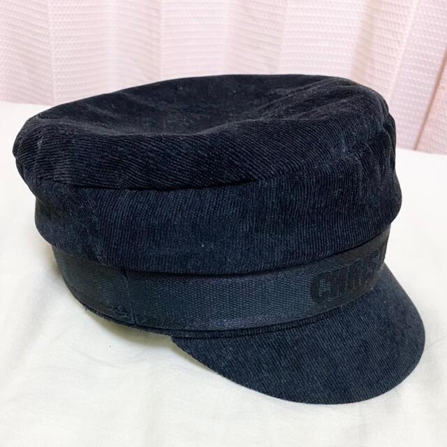 Dior(ディオール)のDIOR 帽子 キャスケット ハット ブラック レディースの帽子(キャスケット)の商品写真