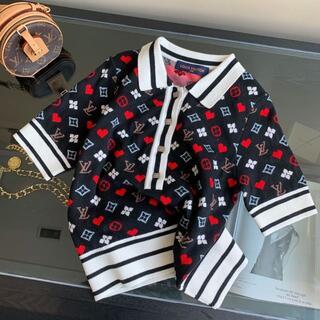 LOUIS VUITTON - 【Louis Vuitton】ゲームオンストライプディテールのポロシャツ