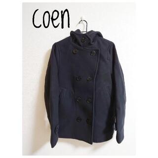 coen - coen コーエン 黒 ブラック Pコート アウター ジャケット
