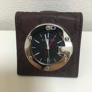 グッチ(Gucci)のグッチ GG柄 GUCCI 置き時計 トラベルウォッチ ♡(置時計)