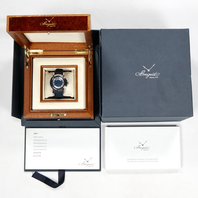 Breguet(ブレゲ)の超美品 BREGUET MARINE 2 ブルー (2015年 保証書) メンズの時計(腕時計(アナログ))の商品写真