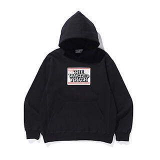 Supreme - black eye patch wasted youth hoodie パーカー