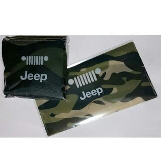 ジープ(Jeep)の#非売品# ジープ 迷彩エコバッグ&迷彩マスクケース  新品未使用(ノベルティグッズ)