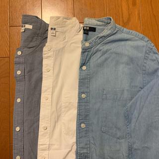 UNIQLO - ユニクロ スタンドカラーシャツ Sサイズ3枚