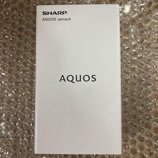 シャープ(SHARP)の【新品】SHARP AQUOS sense4 SH-M15(スマートフォン本体)