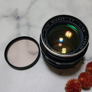 コニカミノルタ(KONICA MINOLTA)のMINOLTA ミノルタ MC ROKKOR-PF 58mm F1.4 (レンズ(単焦点))