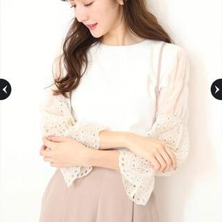 リランドチュール(Rirandture)のリランドチュール カットワーク 刺繍袖透けニット(ニット/セーター)