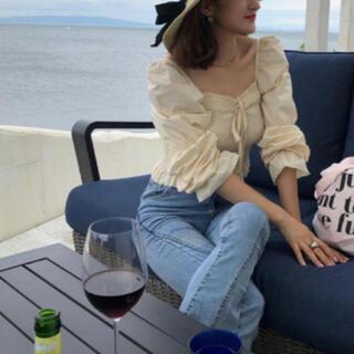 snidel - bibiy puff sleeve blouse ❤︎ パフブラウス ホワイト