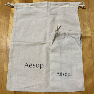 イソップ(Aesop)のAesop 巾着 大 を含んだ2点セット(ショップ袋)