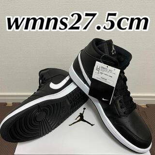 ナイキ(NIKE)のNIKE WMNS AIR JORDAN 1 MID BLACK WHITE(スニーカー)
