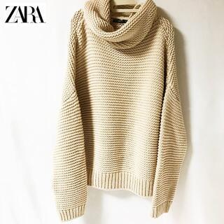 ZARA - 【ZARA】ドロップショルダー ビックシルエット ニット