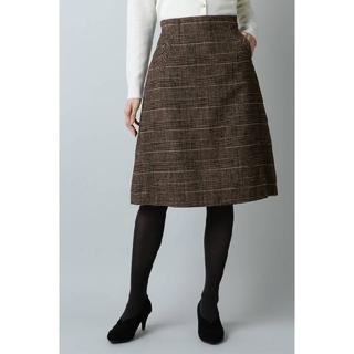 NATURAL BEAUTY BASIC - 値下げ。新品!ナチュラルビューティーベーシック  モールチェックAラインスカート