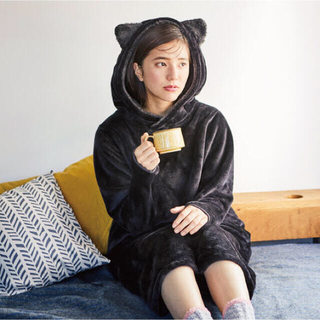 FELISSIMO - フェリシモ猫部♡なりきりにゃんこ 黒猫ちゃん ワンピース ルームウェア