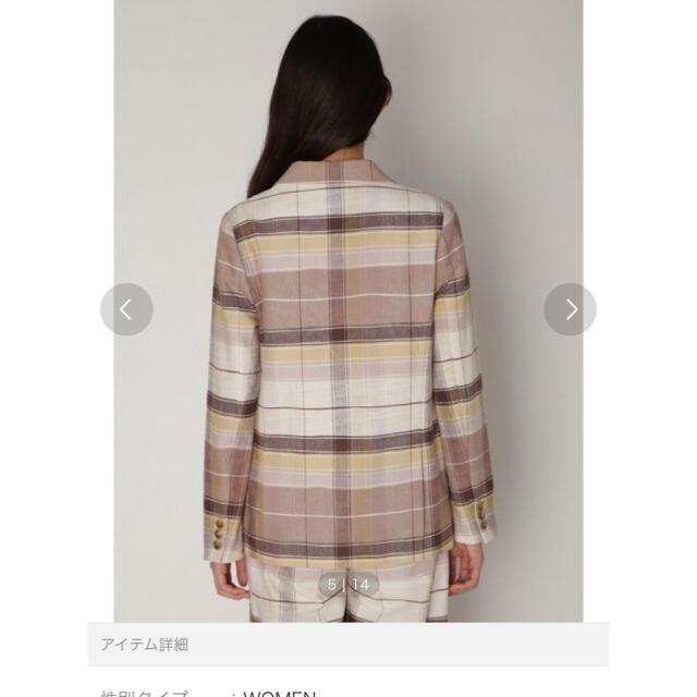 Lily Brown(リリーブラウン)の【新品未使用】Lily brown 先染めダブルジャケット レディースのジャケット/アウター(テーラードジャケット)の商品写真