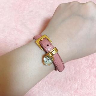 miumiu - 【miu miu】ピンク ハートクリスタルブレスレット