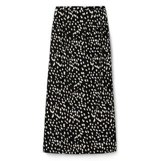 グレイル(GRL)の【新品】ダルメシアン柄ロングスカート ブラックM(ロングスカート)