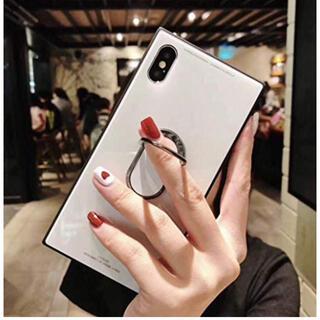 アイフォーン(iPhone)の新品未開封 iPhoneケース iPhoneXケース リング付き(iPhoneケース)